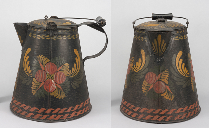 Coffee boiler or coffee pot, made in the United States, 1830-60. Bequest of H.F. du Pont, 1965.2151