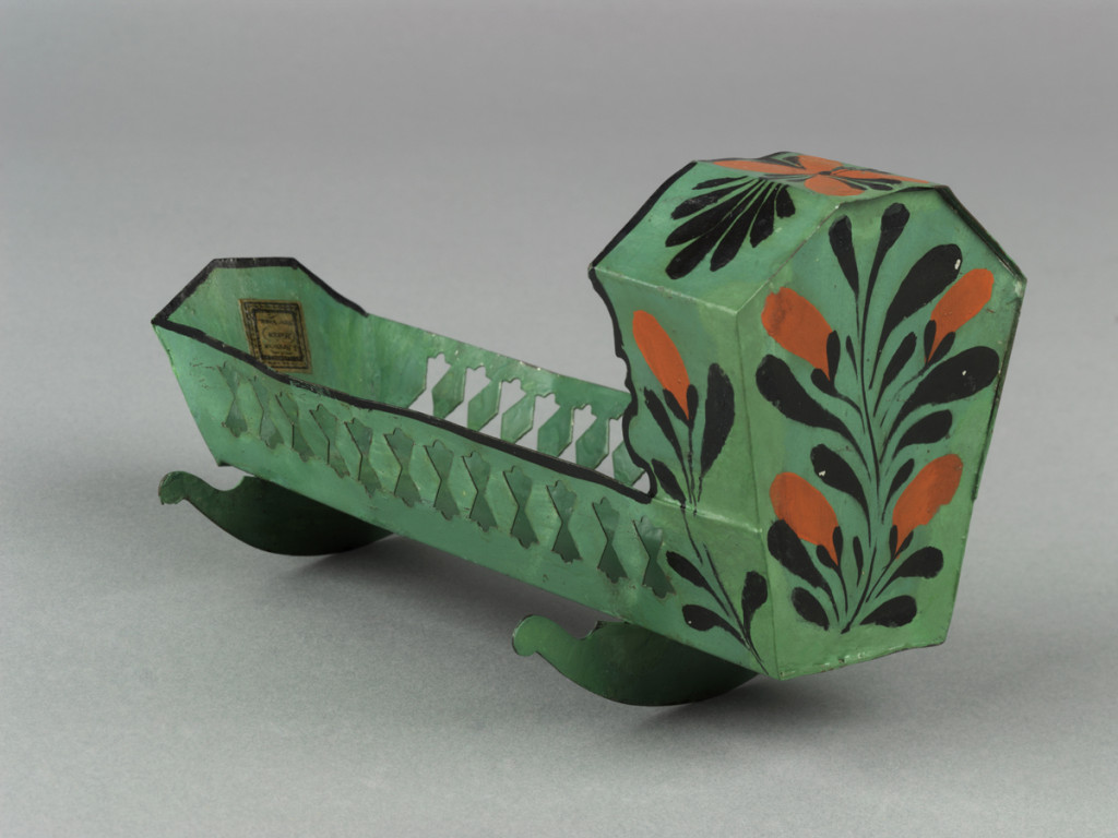 Cradle, made by James Spencer's toy manufactory, New York, NY, 1829-61 Museum purchase, 1970.70
